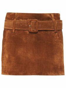 Prada belted mini skirt - Brown