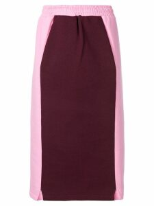 MSGM two-tone pencil skirt - Pink