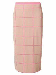 Marni check midi skirt - Pink