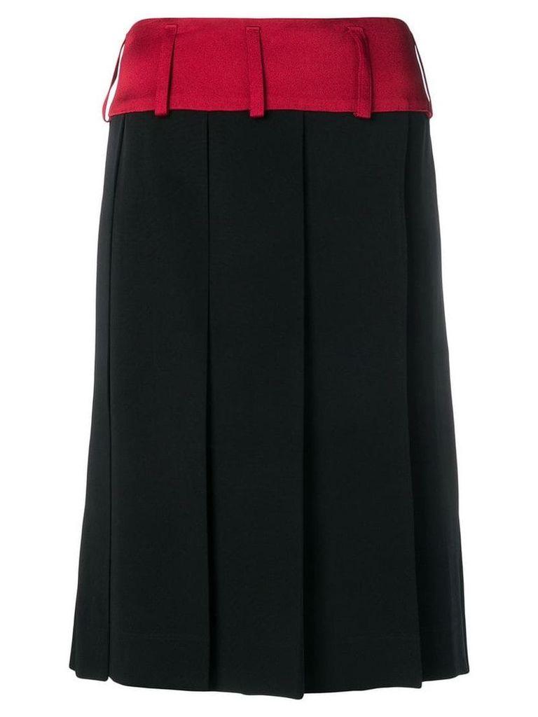 Marni large pleat skirt - Black