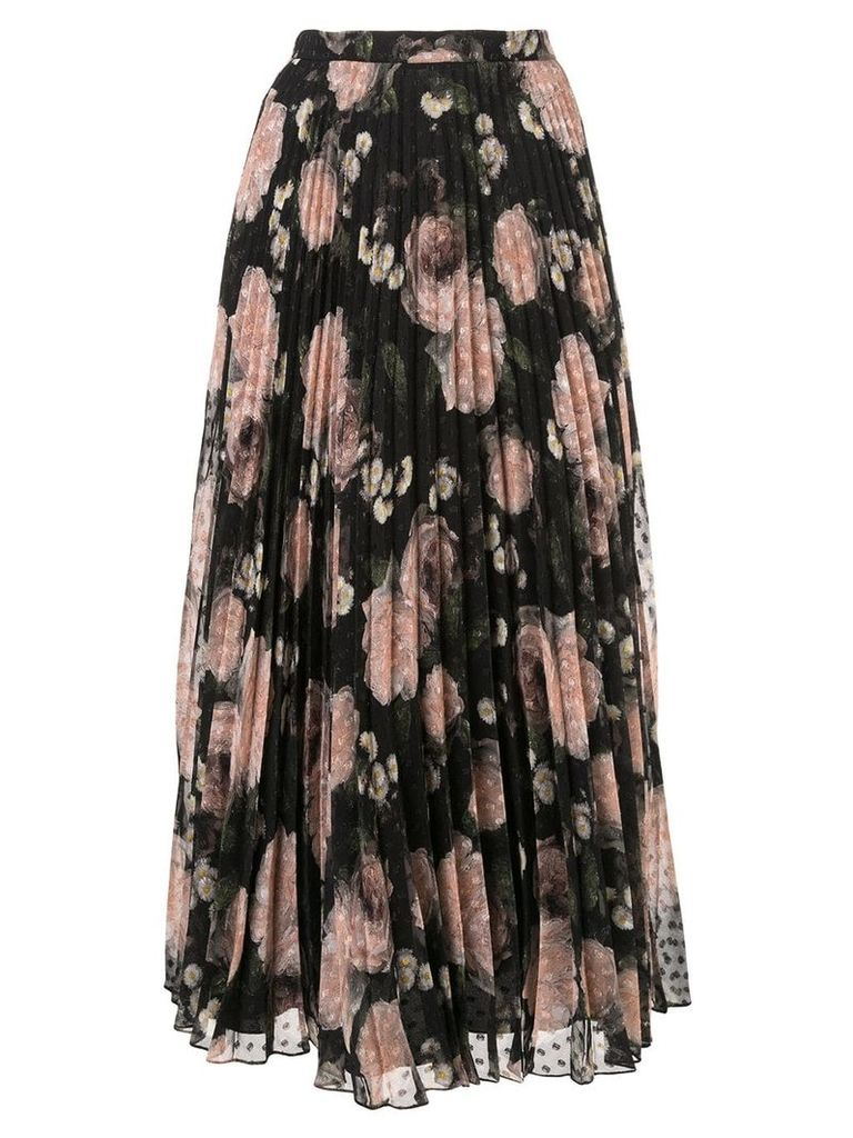 Erdem floral print pleated skirt - Multicolour