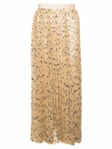 Khaite polka dot pleated skirt - Brown