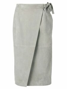 Fabiana Filippi suede skirt - Grey