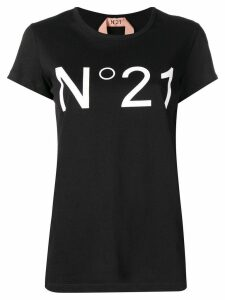 Nº21 logo printed T-shirt - Black