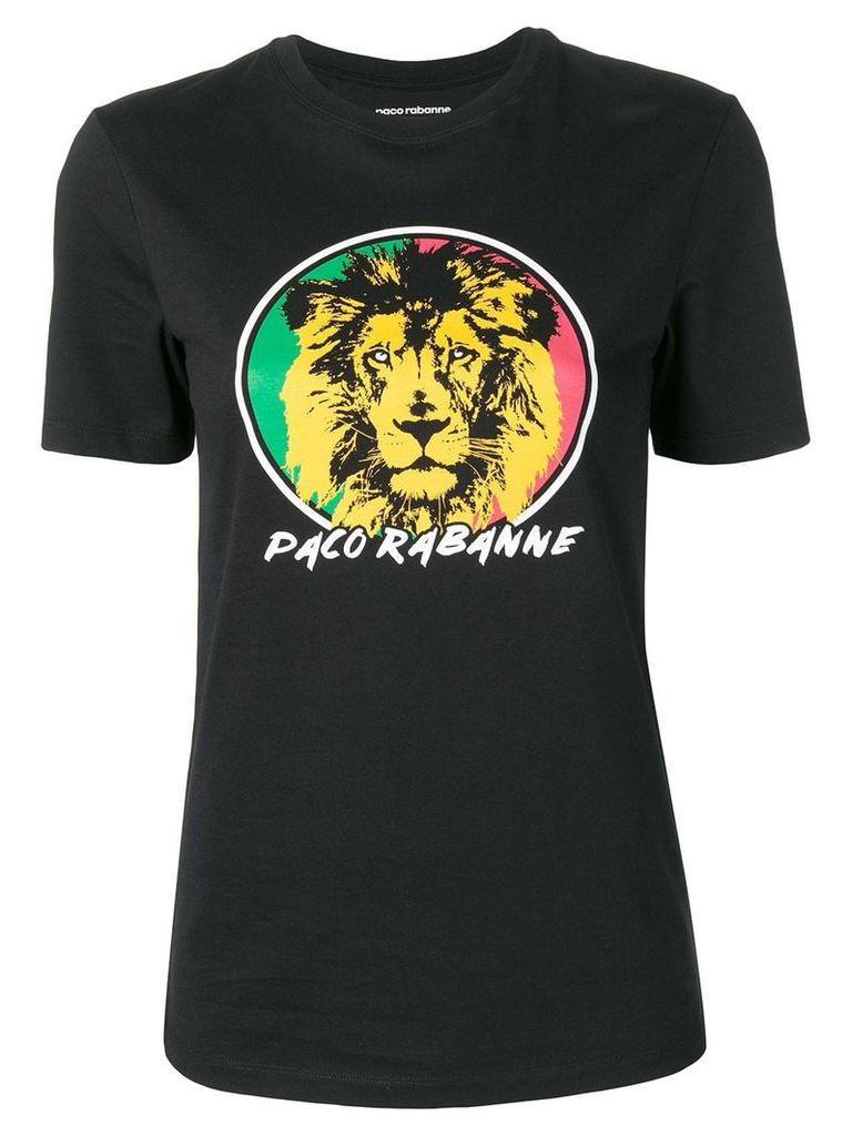 Paco Rabanne 'Lion' print T-shirt - Black