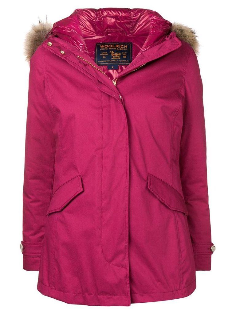 Woolrich hooded parka coat - Pink