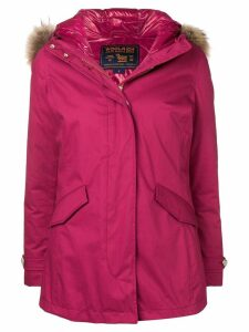 Woolrich hooded parka coat - Pink