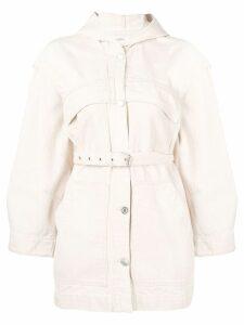 Isabel Marant Étoile belted parka coat - Neutrals