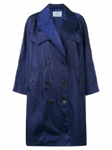 Prada double breasted coat - Blue