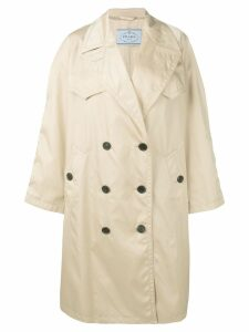Prada oversized trench coat - NEUTRALS