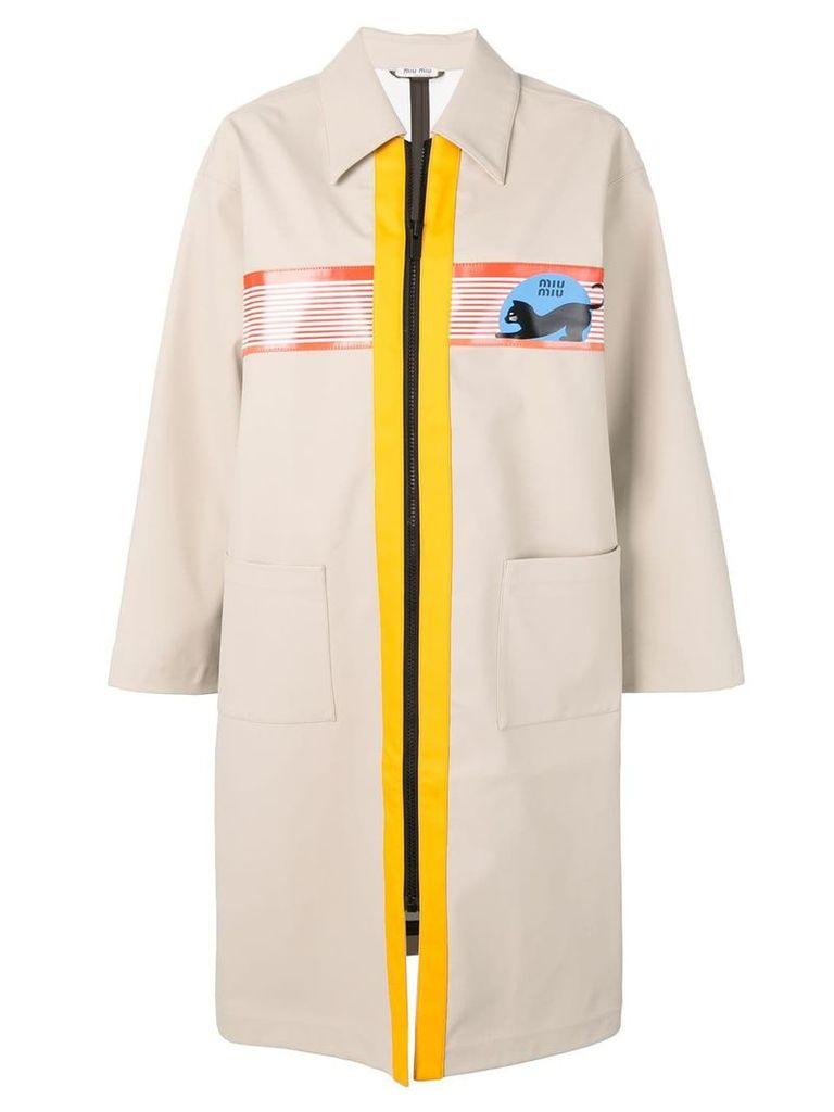 Miu Miu Miu Miu Cat trench coat - Neutrals