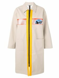 Miu Miu Miu Miu Cat trench coat - Neutrals
