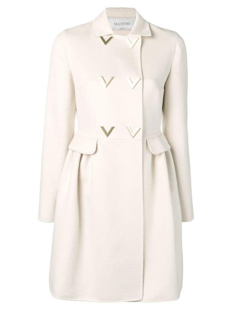 Valentino V detail trench coat - Neutrals