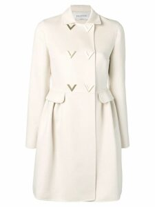 Valentino V detail trench coat - Neutrals