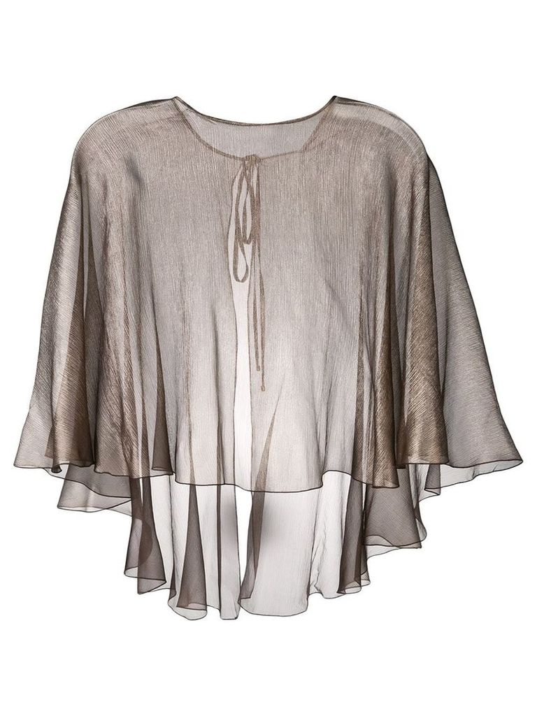 Maria Lucia Hohan floaty metallic cape - Brown