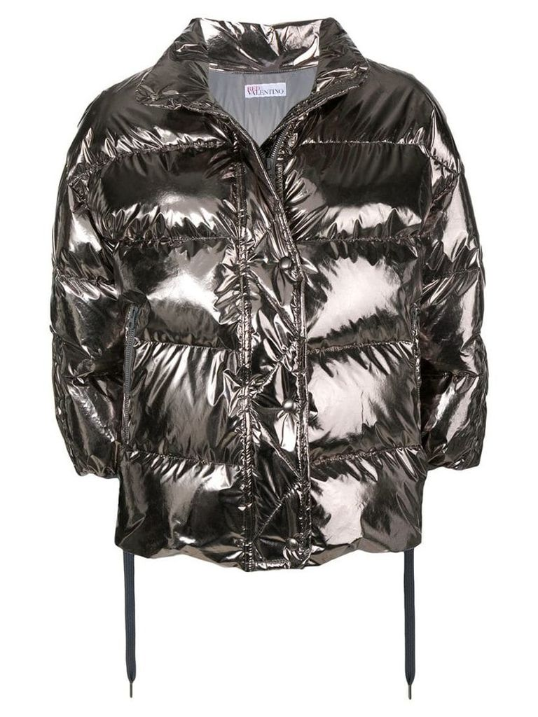 Red Valentino metallic padded jacket - Silver