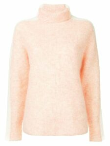 Ganni Callahan side stripes jumper - Pink