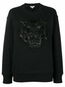 Kenzo embellished tiger sweater - Black