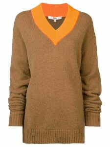 Tibi loose fitted sweater - Brown
