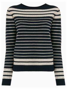 Twin-Set striped round neck jumper - Blue