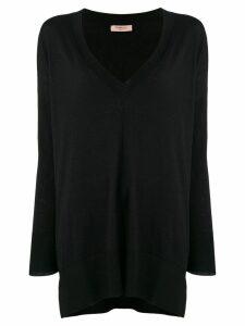 Twin-Set v-neck oversized jumper - Black