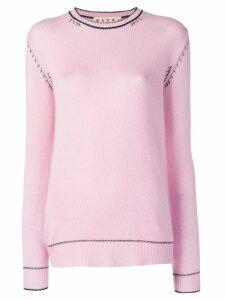 Marni contrast stitch jumper - Pink
