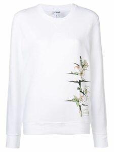 Loewe floral printed sweatshirt - White
