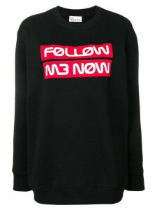 Red Valentino follow me now jumper - Black