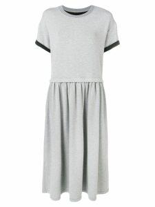 Mm6 Maison Margiela short-sleeve flared dress - Grey