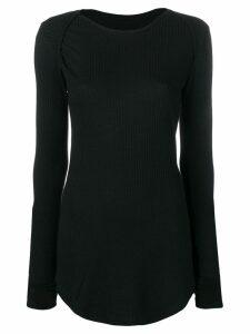 Mm6 Maison Margiela ribbed knit sweatshirt - Black
