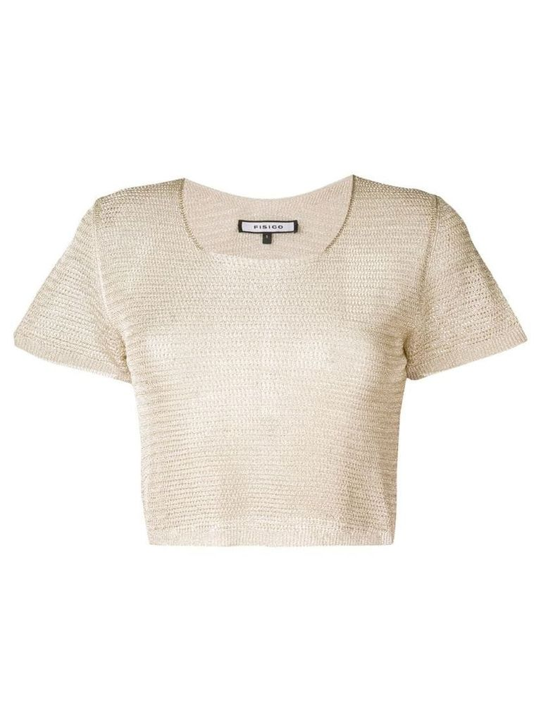 Fisico knitted short sleeve top - Gold