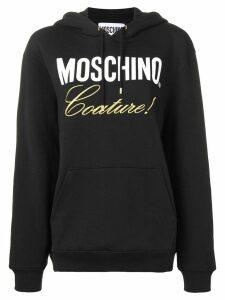 Moschino logo hooded sweatshirt - Black