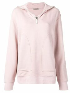 Bottega Veneta zip collar sweatshirt - Pink