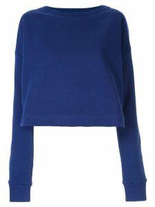 Marni contrast lining sweatshirt - Blue
