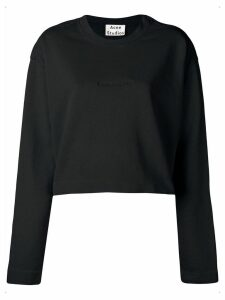 Acne Studios Odice cropped sweatshirt - Black