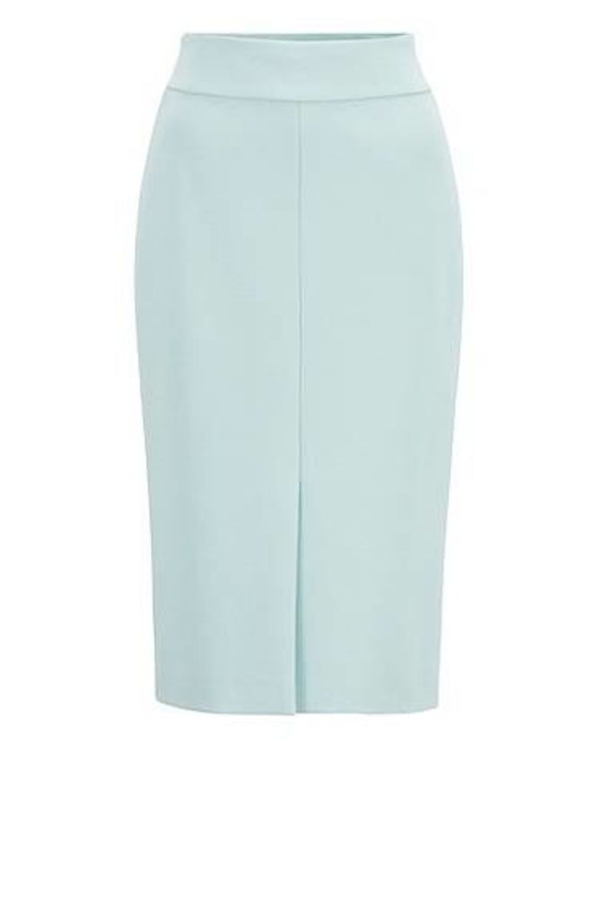 Italian-jersey pencil skirt with front split