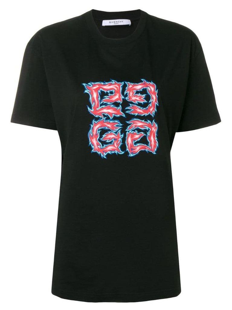 Givenchy fiery logo style T-shirt - Black