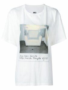 Mm6 Maison Margiela polaroid photo print T-shirt - White