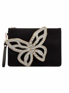 Sophia Webster black Flossy Butterfly crystal butterfly clutch