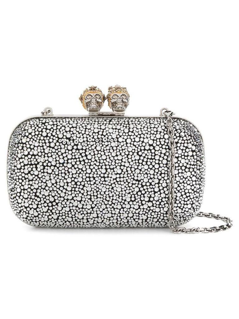Alexander McQueen King Queen box clutch - Silver