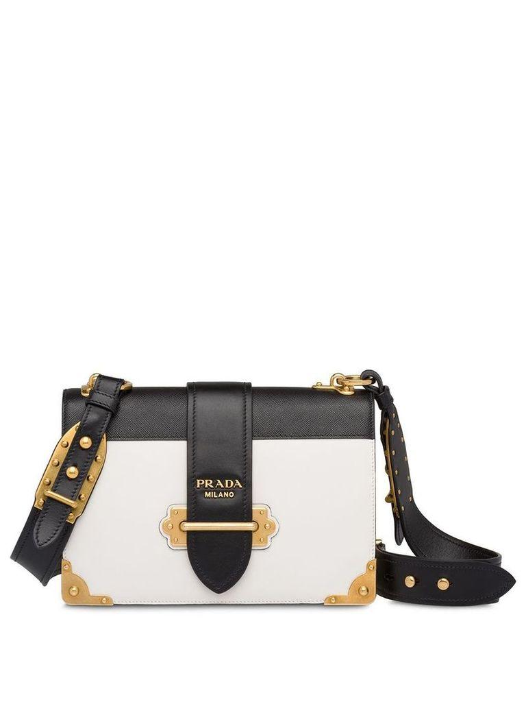 Prada Prada Cahier Large leather bag - White