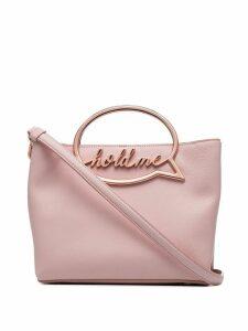 Sophia Webster Hold Me speech bubble leather shoulder bag - Pink