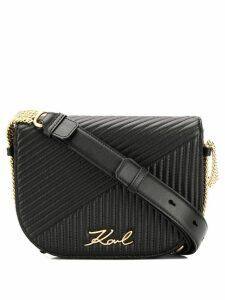 Karl Lagerfeld K/Signature quilted shoulder bag - Black