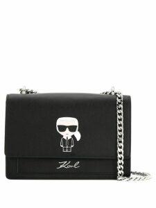 Karl Lagerfeld K/Ikonik metal lock shoulder bag - Black