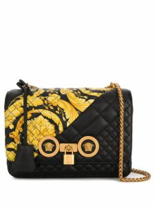 Versace Gold Hibiscus Icon bag - Black