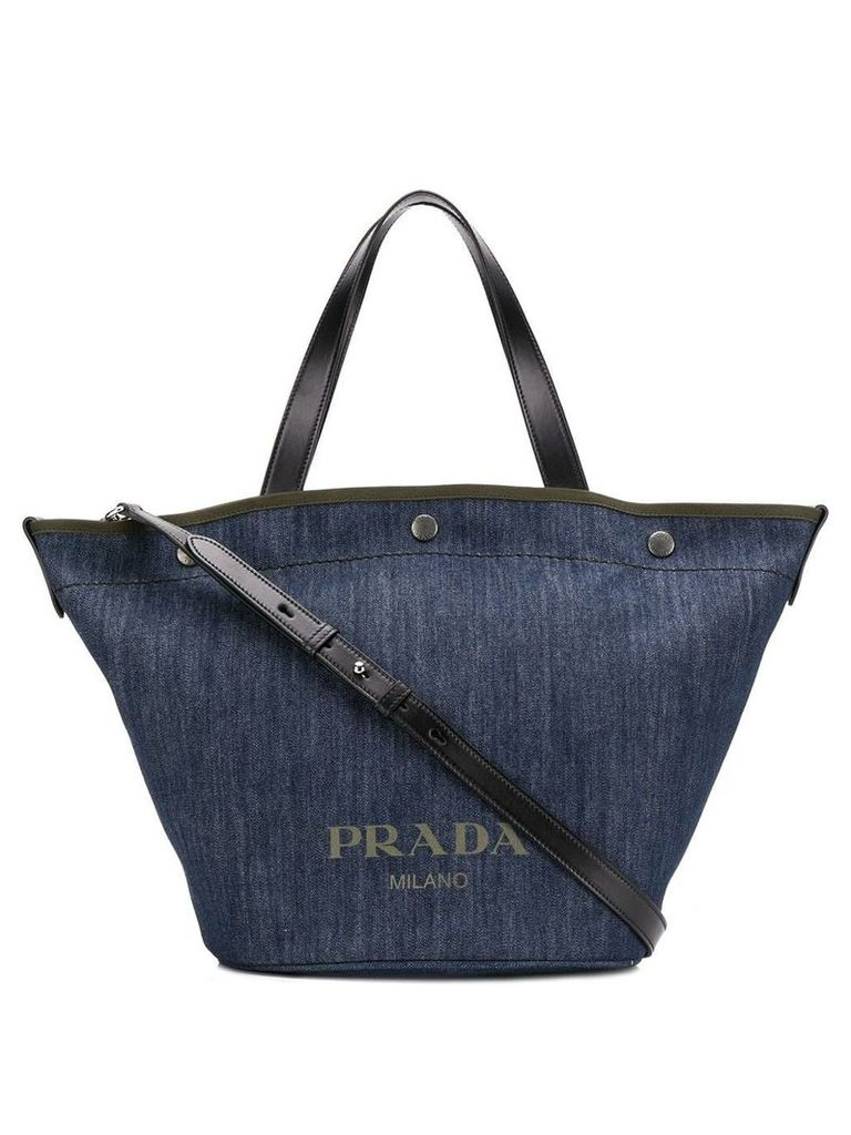 Prada denim shopping tote - Blue