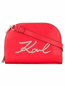 Karl Lagerfeld K/Signature big crossbody bag - Red