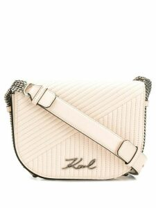 Karl Lagerfeld K/Signature quilted shoulder bag - Neutrals