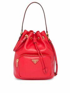 Prada logo bucket bag - Red