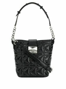 Karl Lagerfeld K/Kuilted studs bucket bag - Black